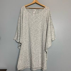 FREE PEOPLE | dolman burnout gray tunic dress